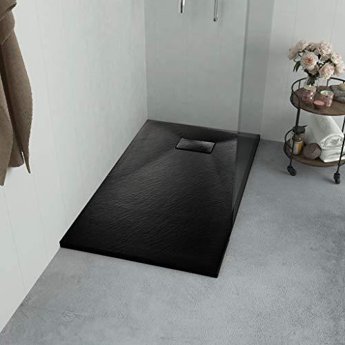 Geniet van winkelen met Douchebak 100x80 cm SMC zwart