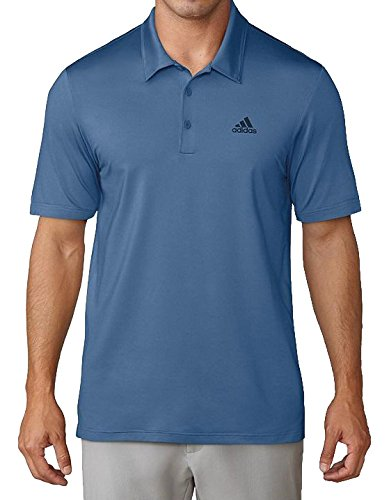 adidas Ultimate 365 Solid Polo con Protección UP +50 de Golf, Hombre, Azul, M