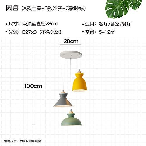 Ikea Plafondlamp, plafondverlichting, plafondspot, woonkamerlamp, Scandinavische stijl, moderne, minimalistische creatieve persoonlijkheid, statafel, driekoplamp, eetkamer, lamp restaura