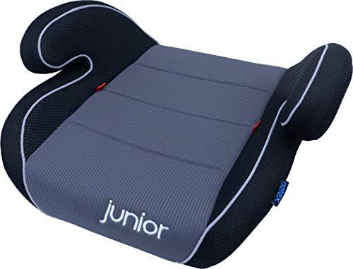 Petex Auto-Kindersitzerhöhung Max 108 ECE-Gruppe 2-3, Kinder von ca. 3,5-12 Jahre|15-36 kg, grau/schwarz