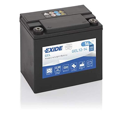 Exide Batteries GEL12-14 AGM Motorrad Starter-Batterie, Schwarz