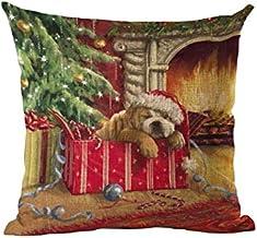 Pengcher Christmas Dog Pillow Case Cushion Cover Decor Home Sofa Bed Pillowcase