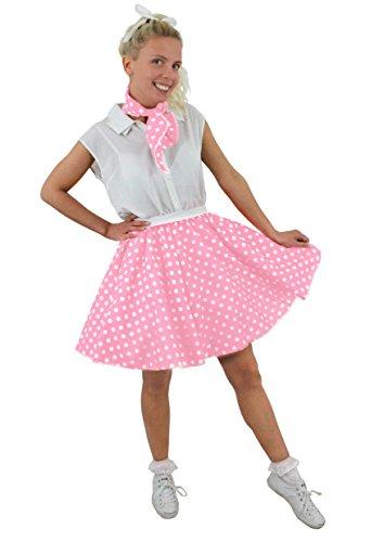 I Love Fancy Dress Ilfd7064osILFD7064OS Jupe Courte à Pois pour Longueur – 43,2 cm de Long Taille /36–40