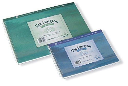 Daler Rowney Langton - Pad de hojas de papel para acuarelas (12 hojas espiraladas)