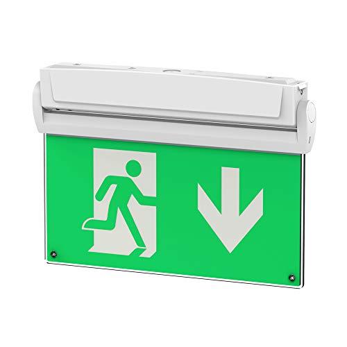 Universal LED Rettungszeichenleuchte, 2,8 Watt, 3 Stunden Notlicht, Notleuchte, Notausgangsleuchte, Fluchtwegleuchte