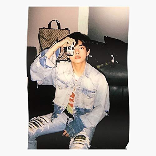 valungtung Bangtan Taehyung Kim Hoseok Yoongi Seokjin BTS Namjoon Print Modern Typographic Poster Girl Boss Office Decor Motivational Poster Dorm Room Wall