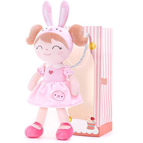 Gloveleya Weiche Puppe Stoffpuppe Puppe Plüschpuppe Mädchengeschenke Plüschtier 36 cm Spring Girl Rosa Hase