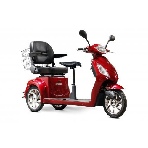 Best Review Of EWheels EW-66 2 Passenger Mobility Scooter - Red - EW-66 RED