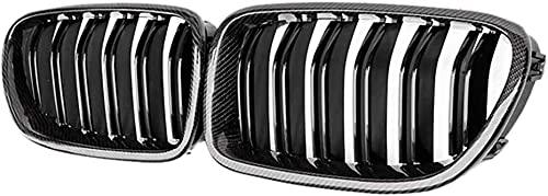 Coche Rejillas frontales de radiador para BMW 5 Series F10 F11 M5 2010 2011 2012 2013 2014 2015 2016, Delantero Parachoques Radiador VentilacióN Accesorios.