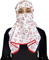 Tolexo Women's Cotton Rayon Printed Scarf/Mask with Velcro Closer (986949, Multicolour, Free Size)