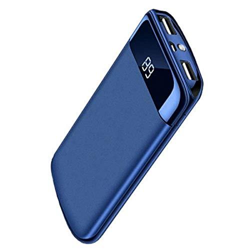 ETC KART 30000 mah batería Externa del Banco de Potencia PoverBank 2 USB LED Powerbank Cargador de teléfono móvil portátil para Xiaomi mi iPhone 7 6X8 XS (Azul)