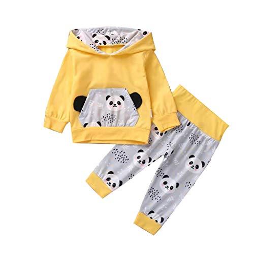 Btruely Overall Baby Baby Born Kleidung Set Baby Kleidung Schneeanzug babySäUglingsbaby-MäDchen-Karikatur-Pullover-Hoodie-T-Shirt Tops + Pants Outfits Sets