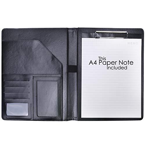 Jakago - Cartellina per appunti in formato A4, in ecopelle, con porta biglietti da visita, porta penne, custodia per conferenze, interviste
