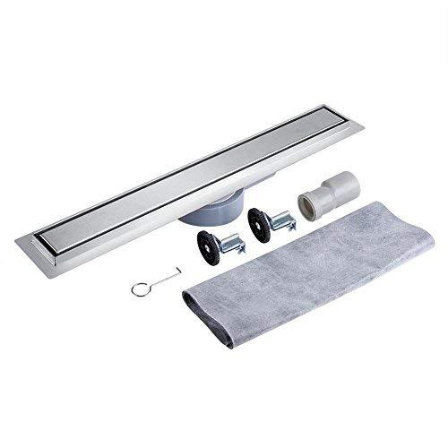 Vloerafvoer, 360 graden draaibare roestvrij stalen doucheafvoer douchegoot, douche vloerafvoer voor badkamer waskeuken 90 cm