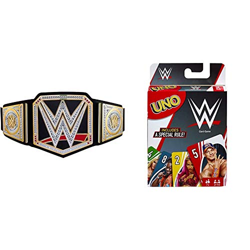 WWE World Heavyweight Championship Belt and Mattel Games UNO Card Game