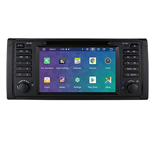 hizpo 7 Pulgadas Android 10 Radio para BMW E39/X5 E53/M5/E38 para BMW Autoradio GPS Navegador Control del Volante Bluetooth Manos Libres WiFi 4G RDS DSP Dab+ Entrada de Vista Trasera USB SD