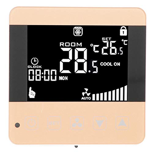 hong Termostato programable, termostato, Sensor NTC de 4 velocidades Pantalla LCD automática, Alta Velocidad, Media Velocidad, Baja Velocidad para Oficina(WiFi)