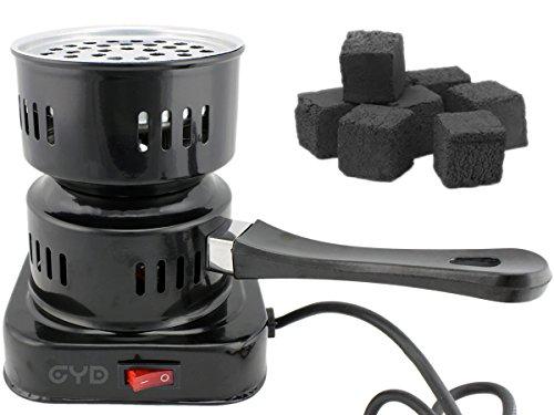 GYD - Carbone elettronico per Narghilè, Colore: Nero