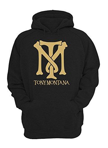 MaikesTic Tony Montana Scarface Gold Logo Unisex Pullover Hoodie Large