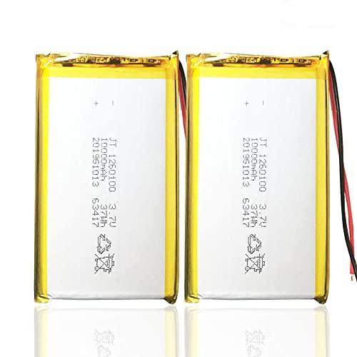 RFGTYH 1260100 3,7 V 10000 mah batería de lipo Recargable para cámara de Libros electrónicos Juguetes eléctricos batería de polímero de Litio 2pcs