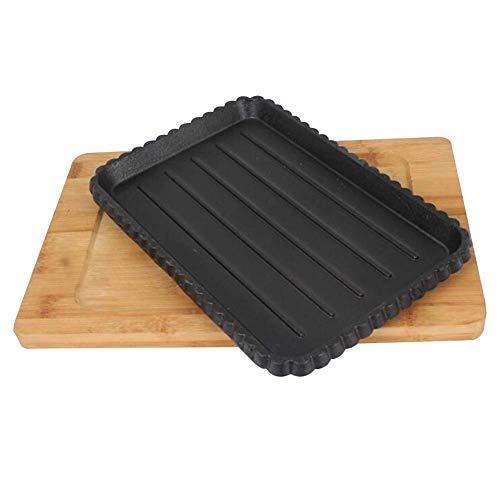 Hierro Fundido Reversible plancha Pan Con Revestimiento antiadherente for el gas, inducción eléctrica Cocina saludable baja en grasa Cocinar Cocinar en el hornillo camping lucar