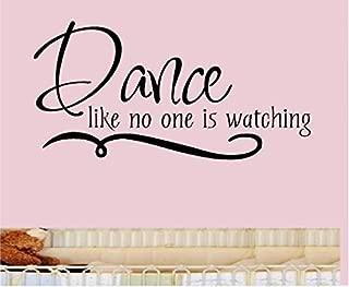 When in Doubt Dance Vinyl Decal Sticker Lettering Girl Teen Room Decor Words