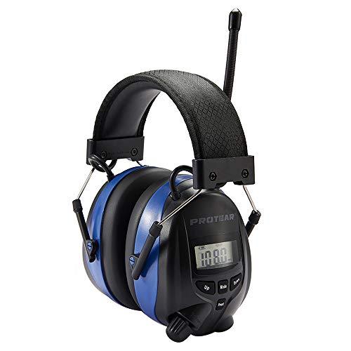 Gehörschutz mit Radio FM/AM,Bluetooth und eingebautem Mikrofon, Funkkopfhörer für Arbeit und Industrie, SNR 30dB