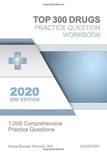Image OfTop 300 Drugs Practice Question Workbook: 1,000 Comprehensive Practice Questions (2020 Edition)