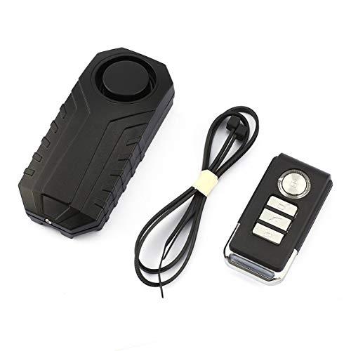 Alarma de Control Remoto inalámbrico Bicicleta/Triciclo eléctrico/Nueva energía Coche Vibración y Desplazamiento Alarma Bloqueo de Seguridad-Negro