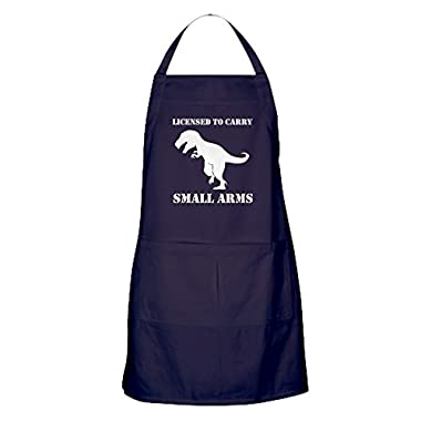CafePress - T-Rex Small Arms Carry License Dinosaur Apron (Dar - 100% Cotton Kitchen Apron with Pockets, Perfect Grilling Apron or Baking Apron