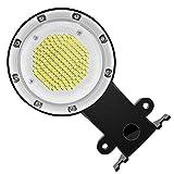 OSALADI Lampione Esterno in Alluminio Impermeabile LED Bianco Caldo Sensore Luce Stalla pe...