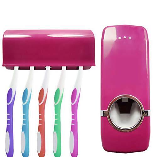 2 Pz Dispenser Automatico per Dentifricio portadentifricio in acciaio inossidabile Dispenser automatico di dentifricio,spremitura di dentifricio set di portaspazzolini (un set può mettere 5 pennelli)