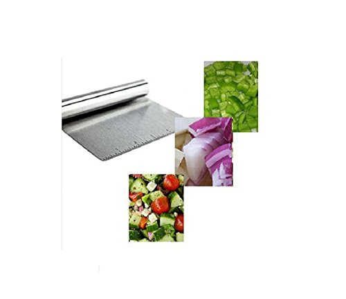 Stainless Steel Food Scraper and Chopper Large Griddle Spatula Kitchen Tool Gadget by MERRY BIRD