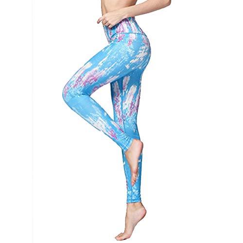 Leggins para mujer Leggins Para Mujer Cintura Alta ,Nuevos Pantalones De Yoga Azules De Moda Para Mujer, Mallas De Mujer Absorbentes De Sudor Transpirables De Alta Elasticidad ( Color : Blue-2-M )