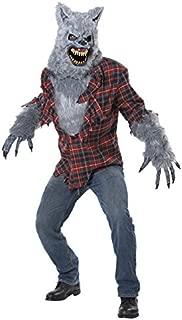 Men's Gray Lycan Vampire Werewolf Full Fur Costume