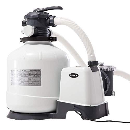 "Intex 26652 - Depuradora de arena Krystal Clear 12.000 litros/hora 16"" 0.75 hp"