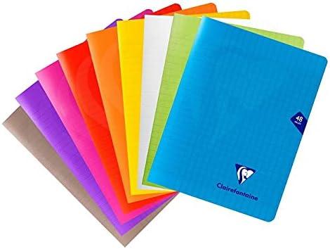 Clairefontaine 293751AMZC Lot de 9 Cahiers Agrafés Mimesys - 17x22 cm - 48 Pages Grands Carreaux - Papier Blanc 90g C...