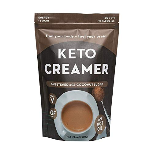 360 Nutrition KETO Creamer With MCT Oil | Sweetened with Coconut Sugar | Dairy Free Coffee Creamer Milk Substitute | Weight Loss, Energy, Fat Loss, Supports Ketosis