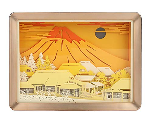 CHSHY 3D Paper Carving Lampe, Night LED Paper Cut Shadow Light Box, Mount Fuji Mood Night Light Romantic Atmosphere Lover