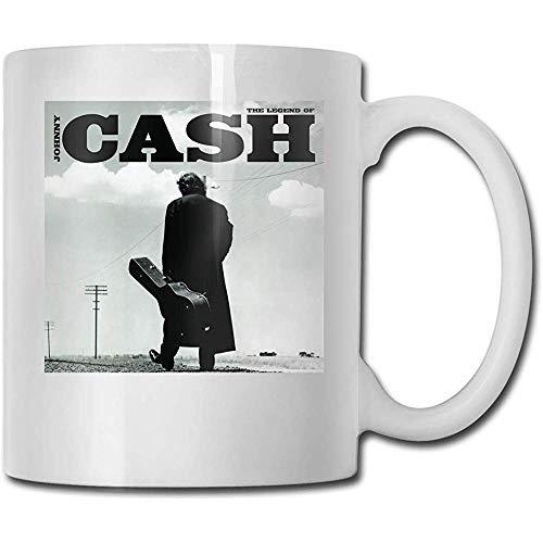 Tassen Legende von Johnny Cash Fashion Kaffeetasse Tee Cup Geschenk für Fans Ehemann Ehefrau Freundin Weiß