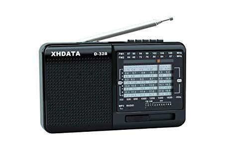 XHDATA D-328 Radio Portátil Soporte de Reproductor de MP3 Tarjeta TF FM Am SW...