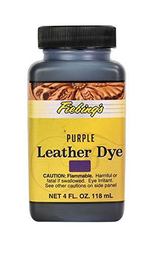 Fiebing's Leather Dye - Alcohol Based Permanent Leather Dye - 4 oz - Purple