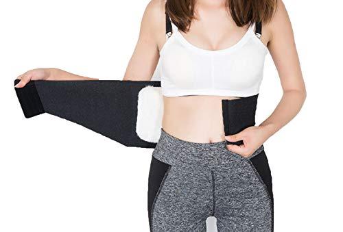 Fascia lombare termica di livello medico, unisex e regolabile, con comodo interno in finto cashmere spesso, ideale per scaldare reni, addominali lombari, per mal di schiena, elasticizzata in vita
