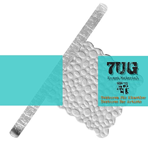 7UG Texturrolle z. Prägen von Strukturpaste, Ton, Polymerclay, Fondant etc./ Motiv Animalprint