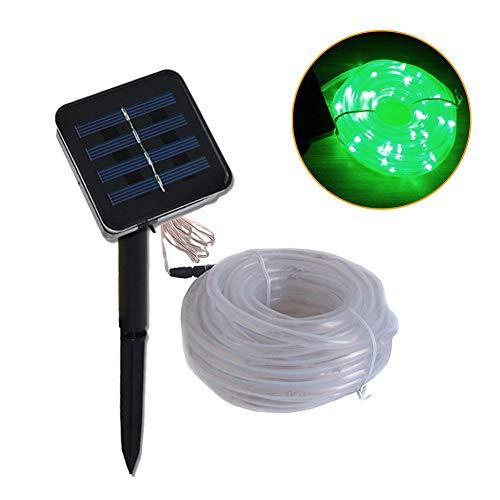 Solar Light-50/100M Outdoor Waterproof Solar LED Light Garden Light LED Rope Light Solar String Light Solar Fairy Light (Green)