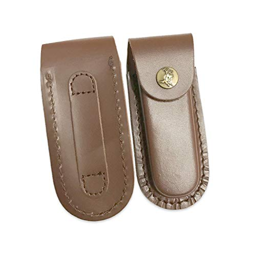 HNYG Brown Leather Knife Belt Pouch Small Leather Belt Pouch For Pockets Tool Leather Pouch With Loop And Cutton