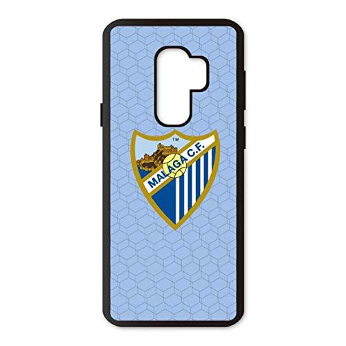 PHONECASES3D Funda móvil Compatible con Samsung Galaxy S9 Plus Málaga CF Escudo. Carcasa de TPUde Alta protección. Funda Antideslizante, Anti choques y caídas. - Azul