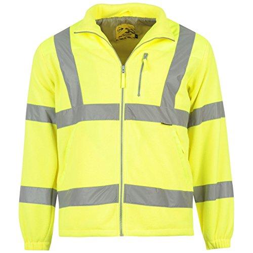 Dunlop, Herren-Fleece-Sicherheitsweste mit Reflektionsstreifen Gr. L, gelb