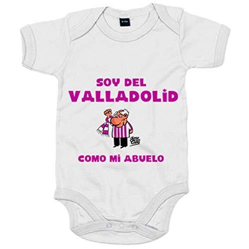 Body bebé soy del Valladolid como mi abuelo - Blanco, 6-12 meses