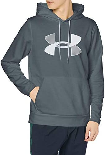 Under Armour Men s Armour Fleece Big Logo Hoodie Pitch Gray 012 Halo Gray Medium product image
